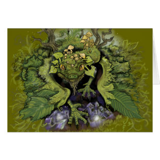 Forest Foliage Dragon~greeting cards