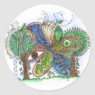 Forest for the Trees Round Sticker