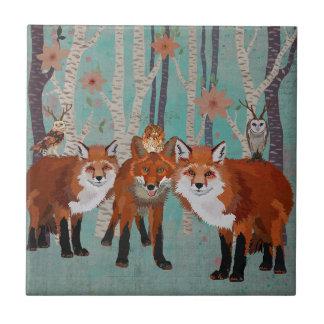 FOREST FOXES & ANTLER OWLS Tile