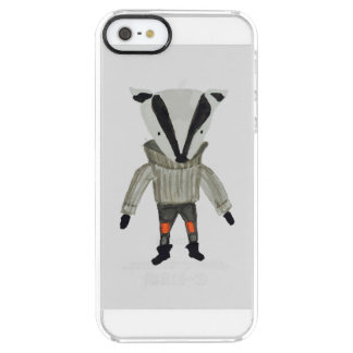 Forest Friends Cute Little Badger Clear iPhone SE/5/5s Case