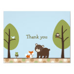 Forest Friends Forest Animal Thank You Note Cards Personalized Invitations