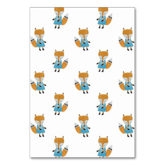 Forest Friends Fox All-Over Repeat Pattern Table Cards