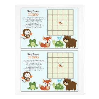"Forest Friends/Tree Tops ""Baby Shower Bingo"" sheet 21.5 Cm X 28 Cm Flyer"