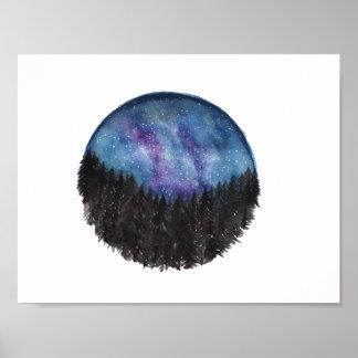 Forest Galaxy Print