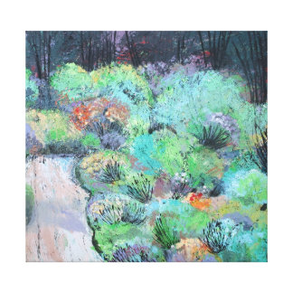 Forest Garden Stretched Canvas Print