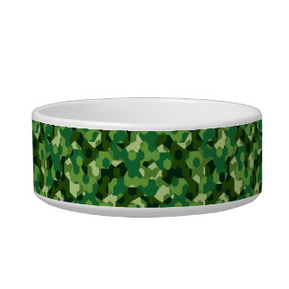 Forest geometric camouflage bowl