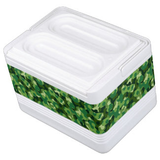 Forest geometric camouflage cooler