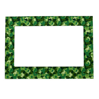 Forest geometric camouflage magnetic picture frame