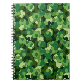 Forest geometric camouflage notebooks
