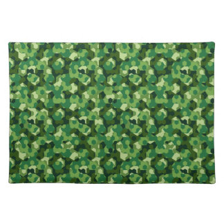 Forest geometric camouflage placemat
