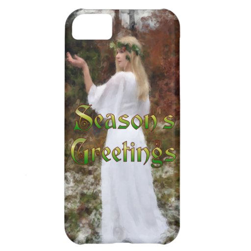 Forest Goddess - Season's Greetings iPhone 5C Cases