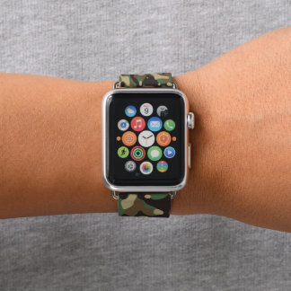 Forest Green and Brown Camouflage. Camo your Apple Watch Band