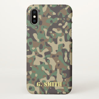 Forest Green and Brown Camouflage. Camo your iPhone X Case