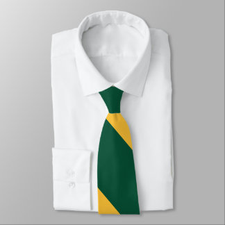 Forest Green and Gold Broad University Stripe Tie