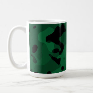 Forest Green Camo; Camouflage Coffee Mugs