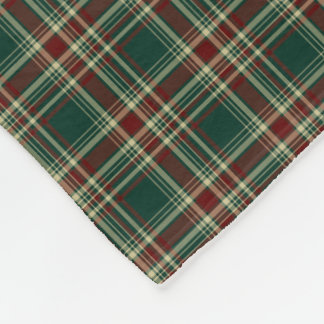 Forest Green Christmas Plaid Fleece Blanket