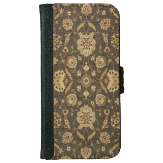 Forest green gold floral tapestry iPhone 6 wallet case