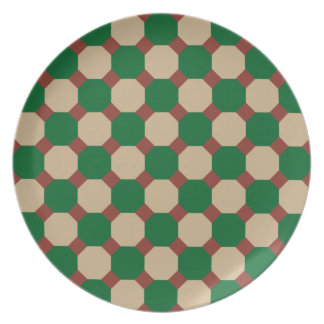 Forest Green Octagon Plate