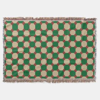Forest Green Octagon Throw Blanket
