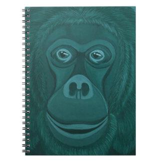 Forest Green Orangutan Notebook