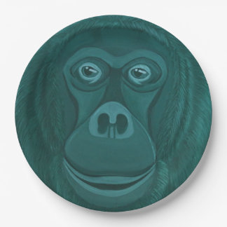 Forest Green Orangutan Paper Plates