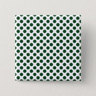 Forest Green Polka Dots 15 Cm Square Badge