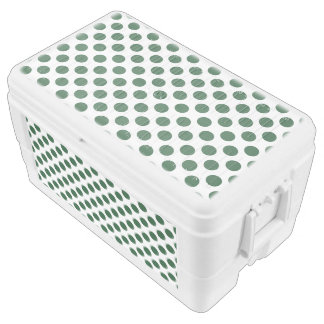 Forest Green Polka Dots Chest Cooler
