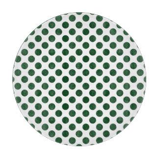 Forest Green Polka Dots Cutting Board