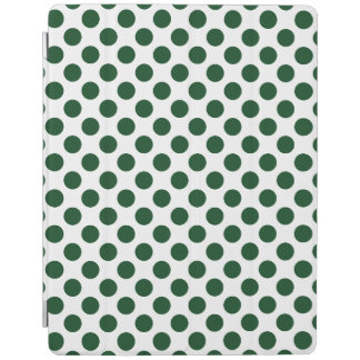 Forest Green Polka Dots iPad Cover