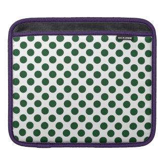 Forest Green Polka Dots iPad Sleeve