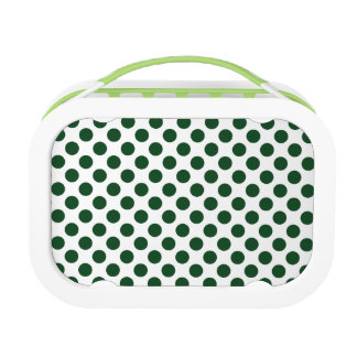 Forest Green Polka Dots Lunch Box