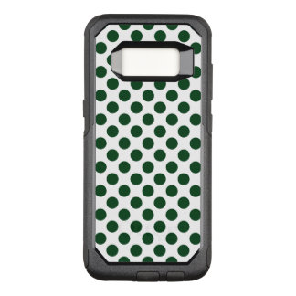 Forest Green Polka Dots OtterBox Commuter Samsung Galaxy S8 Case