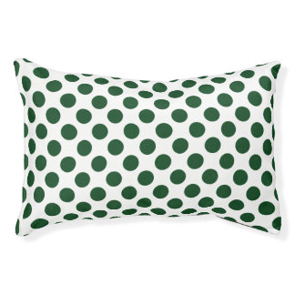 Forest Green Polka Dots Pet Bed