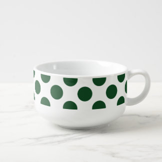 Forest Green Polka Dots Soup Mug