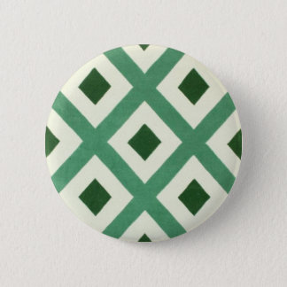 Forest Green Triangle Pattern 6 Cm Round Badge