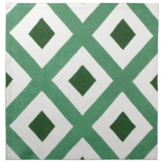 Forest Green Triangle Pattern Napkin