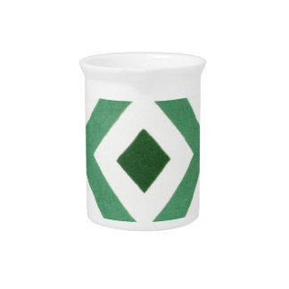 Forest Green Triangle Pattern Pitcher
