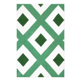 Forest Green Triangle Pattern Stationery
