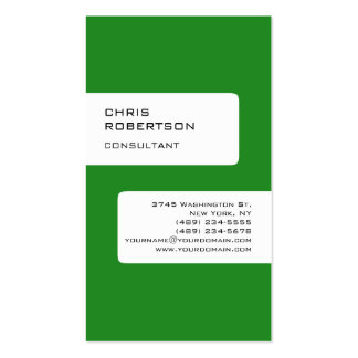 Forest Green White Attractive Charm Business Card