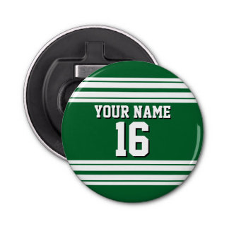 Forest Green White Team Jersey Custom Number Name