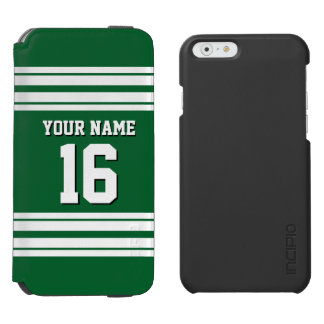 Forest Green White Team Jersey Custom Number Name Incipio Watson™ iPhone 6 Wallet Case