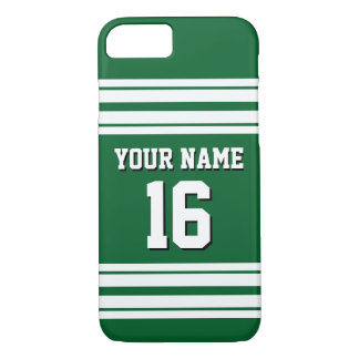 Forest Green White Team Jersey Custom Number Name iPhone 8/7 Case