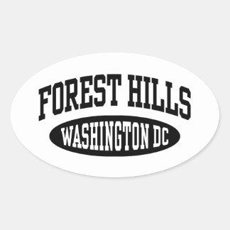 Forest Hills Washington DC Oval Sticker