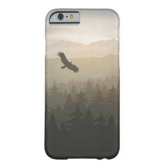forest in fog and sunrise with stars barely there iPhone 6 case