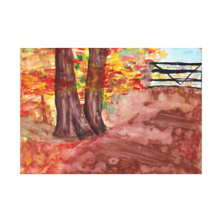 Forest in the Fall Canvas Print
