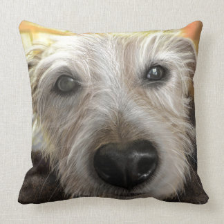 Forest Jack Russel Throw Pillow