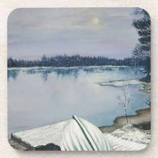 Forest lake coaster