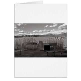 Forest Lake in Black and White Card
