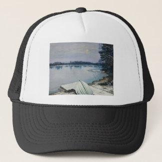 Forest lake trucker hat