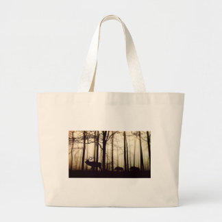 forest large tote bag